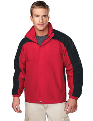 Tri-Mountain Men's Big & Tall Textured Ripstop Nylon Shell Embroidered Jacket w/Contrasting Sleeve Inserts