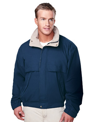 Tri-Mountain Big & Tall Men's Water Resistant Embroidered Poplin Jacket
