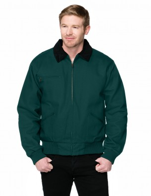 Tri-Mountain Big & Tall Men's Embroidered Heavyweight Cotton Canvas Jacket
