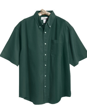 Tri-Mountain Men's Big & Tall 60/40 Easy Care Short Sleeve Embroidered Twill Shirt
