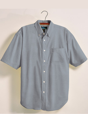Tri-Mountain Men's Big & Tall Easy Care Oxford Embroidered Short Sleeved Shirt