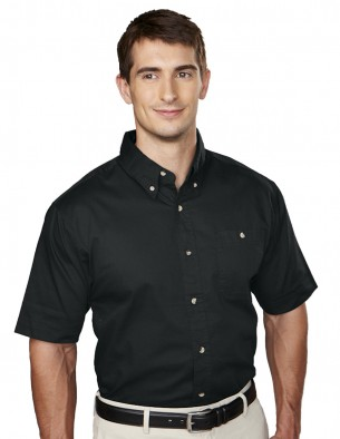 Tri-Mountain Men's Big & Tall Cotton Twill Embroidered Shirt
