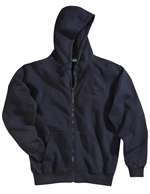 Tri-Mountain - 690,Men's Big & Tall Premium 80/20 Sueded Embroidered Full Zip Hooded Sweatshirt, Embroidery, Screen Printing, Pensacola, Logo Masters International