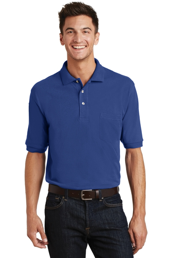 Port Authority - K420P Men's Pique Pocket Polo Shirt