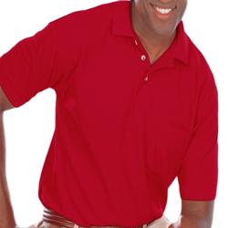 Blue Generation Adult Short Sleeve Blended Pocket Polo