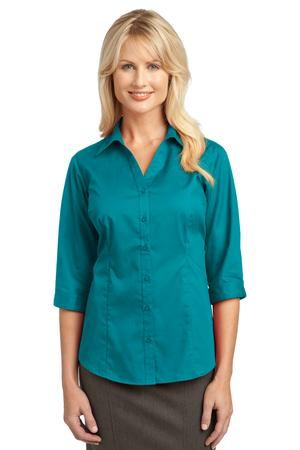 Port Authority - L6290, Ladies Embroidered 3/4 Sleeve Blouse - Logo Masters International
