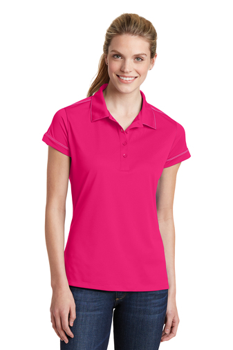 Sport-Tek - LST659, Ladies Contrast Stitch Micropique Sport-Wick Polo Shirt, Embroidery, Screen Printing - Logo Masters International