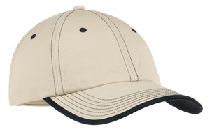 Port Authority - C835 Vintage Washed Contrast Stitch Cap, Pensacola, Embroidery, Screen Printing, Logo Masters International