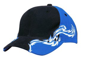 Port Authority - C859  Colorblock Racing Cap with Flames, Pensacola, Embroidery, Screen Printing, Logo Masters International