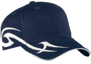 Port Authority - C878, Racing Cap with Sickle Flames - Logo Masters International