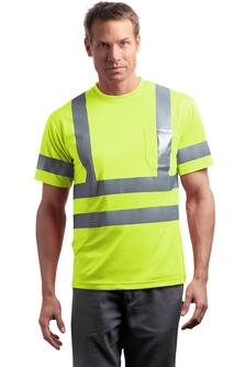 CornerStone - CS408, ANSI 107 Class 3 Short Sleeve Snag-Resistant Reflective T-Shirt, Embroidery, Screen Printing - Logo Masters International