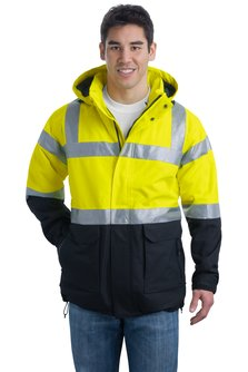 Port Authority - J799S  ANSI Class 3 Safety Heavyweight Parka, Pensacola, Embroidery, Screen Printing, Logo Masters International