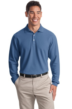 Port Authority - K800LS Mens Long Sleeve EZCotton Pique Polo Shirt
