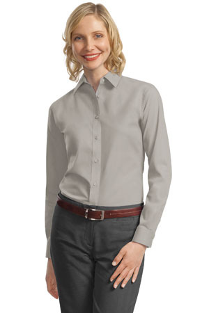 Port Authority - L632 Ladies Long Sleeve Value Poplin Shirt, Pensacola, Embroidery, Screen Printing, Logo Masters International