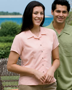 Harriton - M570W Women's Bahama Cord Camp Shirt