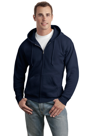 Hanes - P180, Adult EcoSmart Full-Zip Hooded Embroidered Sweatshirt, Embroidery, Screen Printing - Logo Masters International