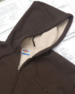 Dickies - TW385 , Men's Bonded Waffle-Knit Hooded Work Jacket - Logo Masters International