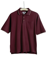 Tri-Mountain - 117,Men's Big & Tall Embroidered Ultra-Cool Mesh Pocket Polo Shirt, Embroidery, Screen Printing, Pensacola, Logo Masters International
