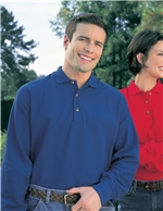 Tri-Mountain - 608,Men's Big & Tall Embroidered 60/40 Long-sleeve Pique Polo, Embroidery, Screen Printing, Pensacola, Logo Masters International